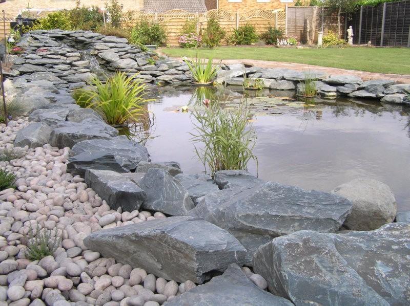 Customers creations wadsworth design for Garden pond gravel