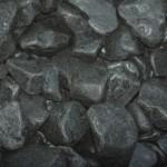 black basalt cobbles