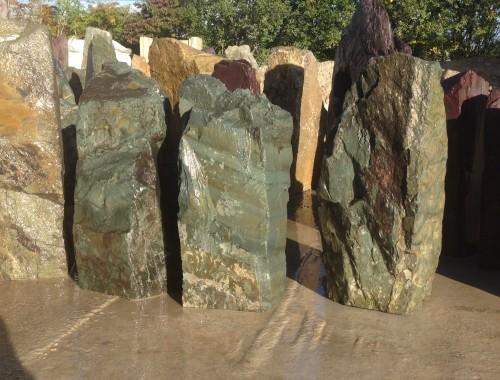 green slate monoliths