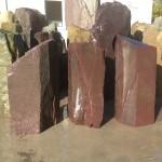 Plum slate monoliths