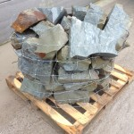 Blue grey sandstone rockery