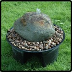 glacial boulder water feature