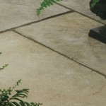 classic ochre limestone paving