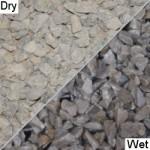 Light grey limestone aggregate