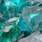 Green Glass rockery stone
