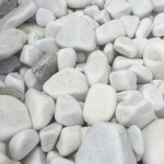 Polar white pebbles