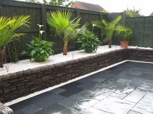 Black & white garden design