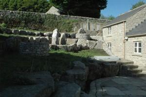Limestone rockery garden