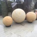 Golden Sandstone Spheres