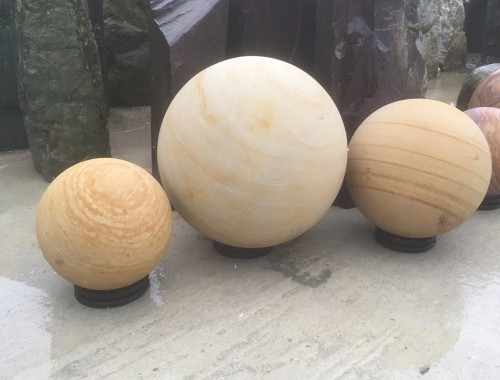 Golden Sandstone Spheres