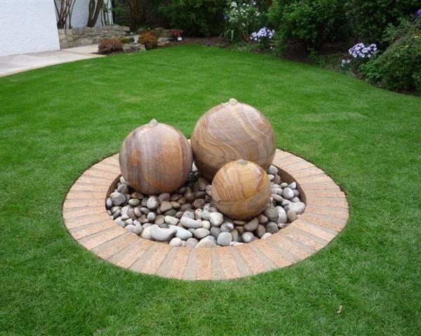 Exceptional Rainbow Sandstone Spheres